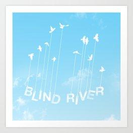 Blind River Birds (white) Art Print