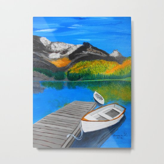 Summer day on the lake  Metal Print