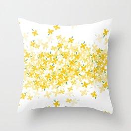 forsythia Throw Pillow