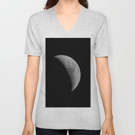 Crescent Moon Unisex V-Neck