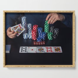 poker player Serving Tray