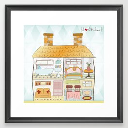 I {❤} Dollhouse Framed Art Print