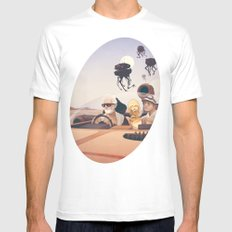 Fear and Loathing on Tatooine MEDIUM Mens Fitted Tee White