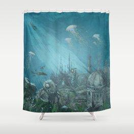 Sunken city Shower Curtain