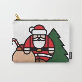 Santa Claus, bag of toys and Christmas tree Carry-All Pouch