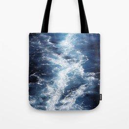 Marble Sea Waves Tote Bag