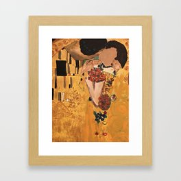 The kiss of You Close Framed Art Print