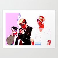 snk Art Prints featuring SNK Broken Boys by rhymewithrachel