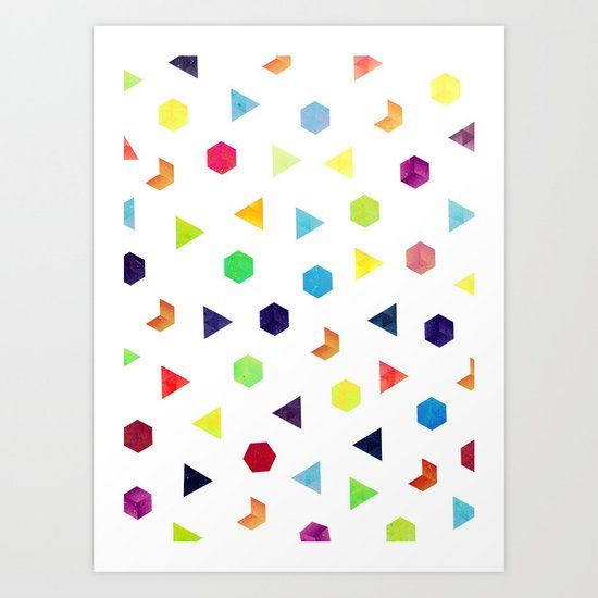 Random Geometry Art Print