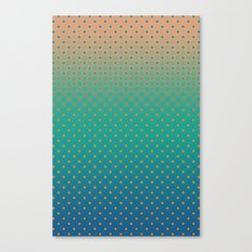 Polka Plankton Blue Canvas Print