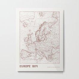 Vintage Map of Europe Metal Print