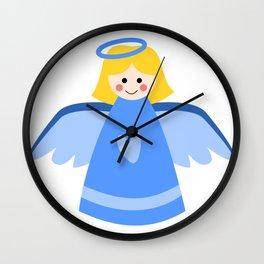 Little Blue Angel Wall Clock
