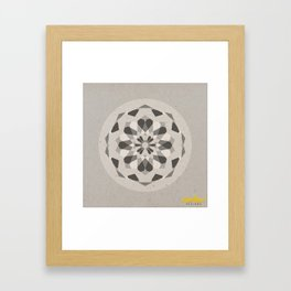 Mandala no.1 Grey Framed Art Print