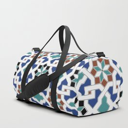 Geometric Pattern - Oriental Design Pt. 7x - seamless design ,blue, green Duffle Bag