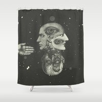 anatomy Shower Curtains featuring COSMIC ANATOMY  by Plástica