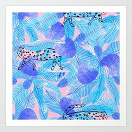 Blå vildmark Art Print