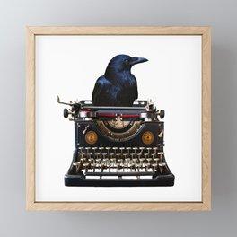 Journalist - Author - Typewriter Black Raven Framed Mini Art Print