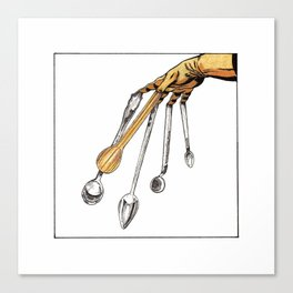 Spoon fingers Canvas Print