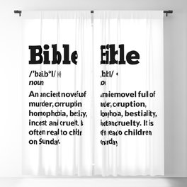 Funny Atheist Bible Definition Blackout Curtain
