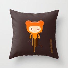 melting moment stare bear Throw Pillow