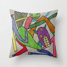 Horse and man Throw Pillow