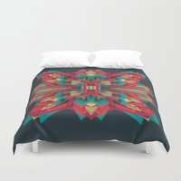 edm Duvet Covers featuring Summer Calaabachti Heart by Obvious Warrior