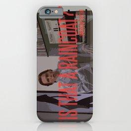 Raincoat iPhone Case