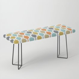 Retro Circles Mid Century Modern Background Bench