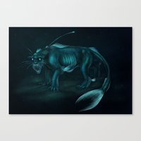 pocket fuel Canvas Prints featuring Nightmare Fuel by Nairas Products