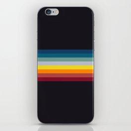 Naoaki - Classic Rainbow Retro Stripes iPhone Skin