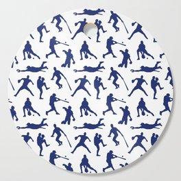 Blue Baseball Players Cutting Board