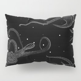 Octopus Black and White Pillow Sham