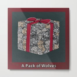 A PACK OF WOLVES Metal Print