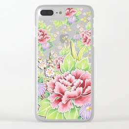Kimono Bouquet Chintz Ditsy Clear iPhone Case