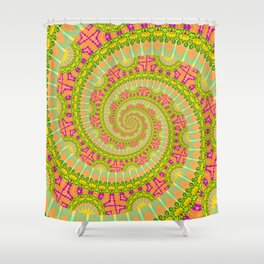 Wonderfull POWER SPIRAL SUNNY Shower Curtain