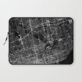 Toronto Black Map Laptop Sleeve