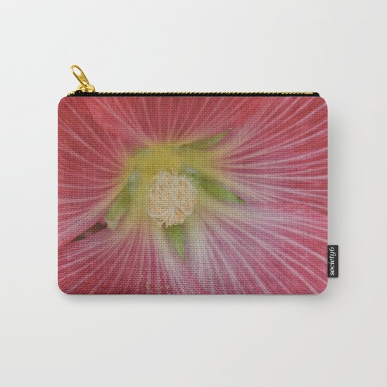 Heart of a Hollyhock Blossom Carry-All Pouch