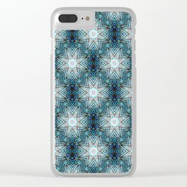 Eight Pointed Star Pattern Clear iPhone Case