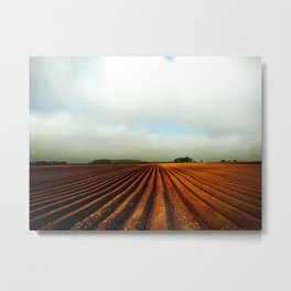 NRW Potatoe Fields Metal Print