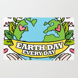 Earth Day Every Day Save The Planet Rug