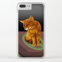 Witch cat Clear iPhone Case