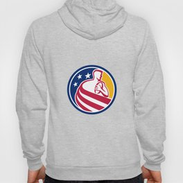 American Rugby Player Icon Hoody