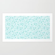 small floral pattern Art Print