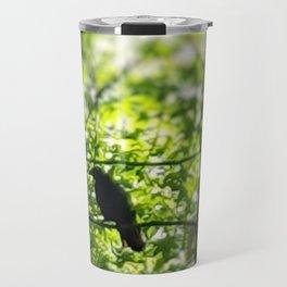 Black Bird Summer Green Tree Travel Mug