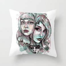 Faces and Color Throw Pillow