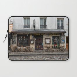 Cafe in Monmartre Paris Laptop Sleeve