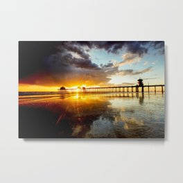 Huntington Beach Sunset 2-18-19 Metal Print