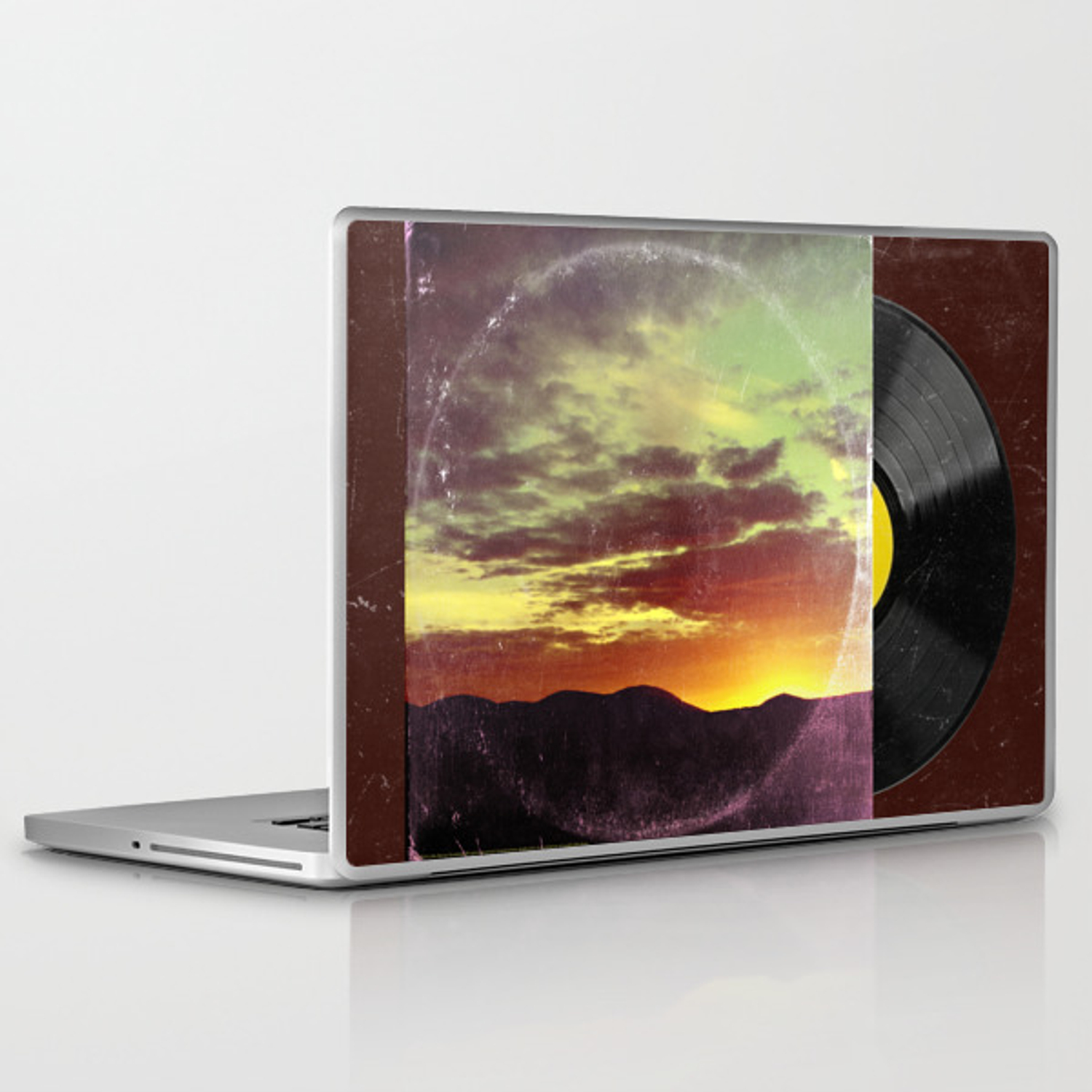 American Sunset As Vintage Album Art Laptop & iPad Skin by sunnybunny