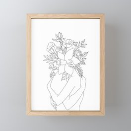 Blossom Hug Framed Mini Art Print