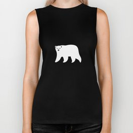 Polar Bears Pattern Biker Tank